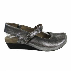 OTBT Silver Springfield Closed Toe Mary Jane Wedge